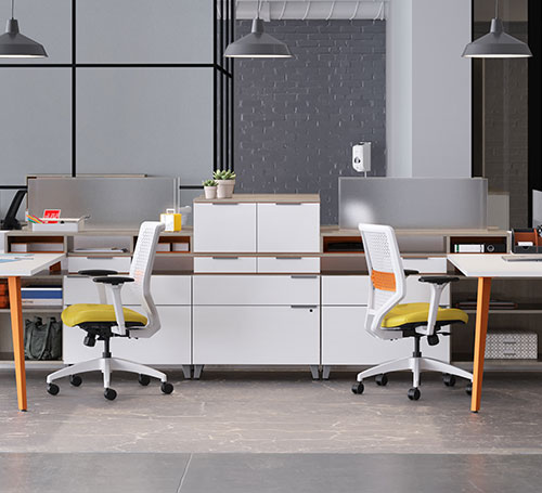 mobile-divider with two chairs back to back