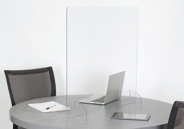 table with sneeze guard